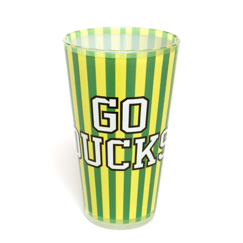 Go Ducks, Oregon Colors, Pint, Glass